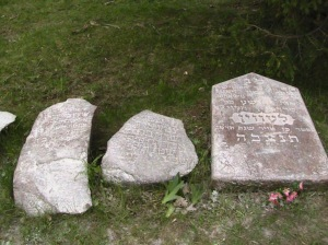 Three of the last five gravestones